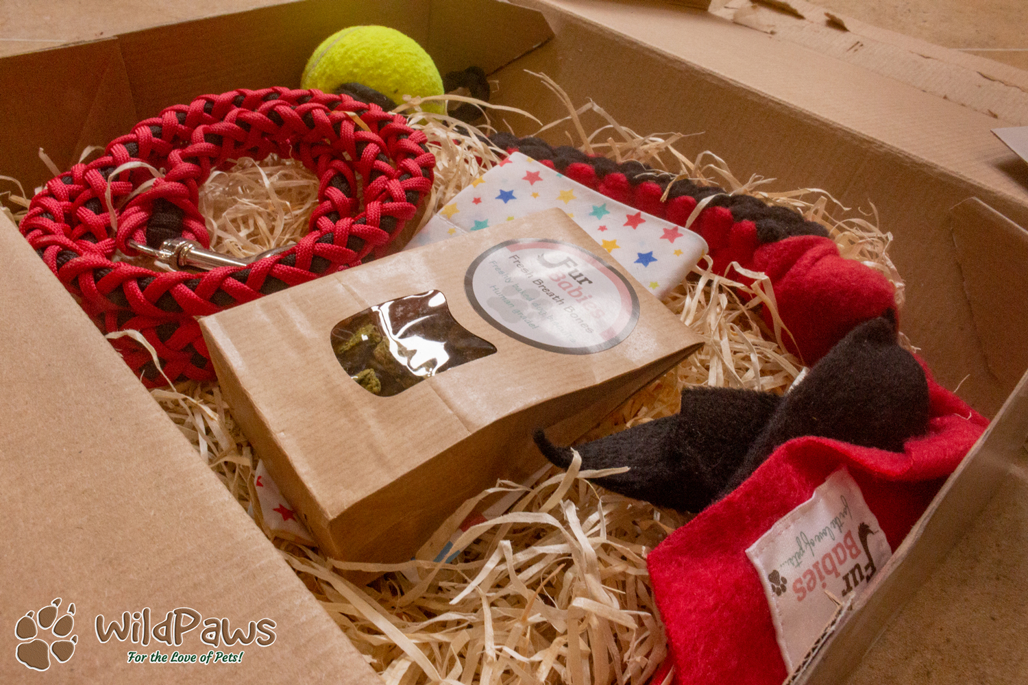Selection Box of Goodies for Wilbur & Paisley of WildPaws for Fur Babies Blog Review