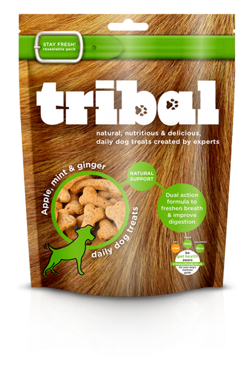 Apple, Mint & Ginger Dog Biscuits by Tribal
