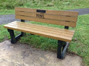 Park Seat With Memorial Plaque
