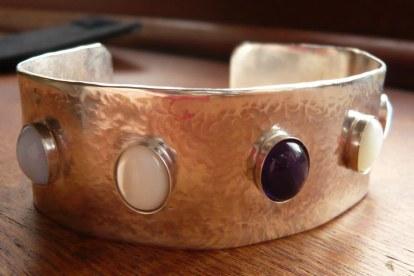 Birthstones cuff bracelet