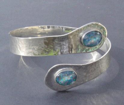 Opal triplet arm bracelet