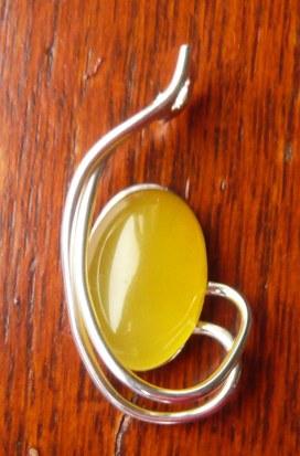 Inscribed carnelian stone pendant