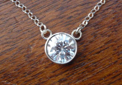 Custom made 12mm CZ necklace