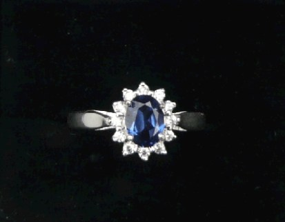 Sapphire Diana style ring