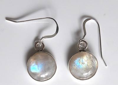 14mm round moonstone dangles
