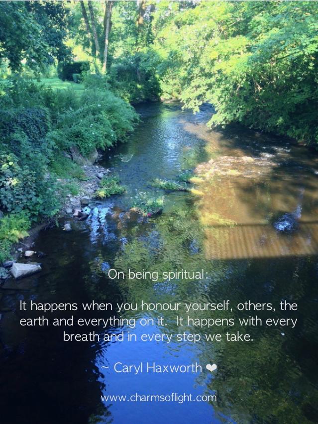 On being spiritual