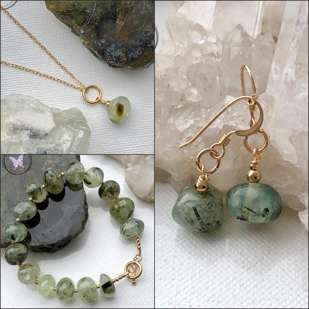 Healing Prehnite Jewellery