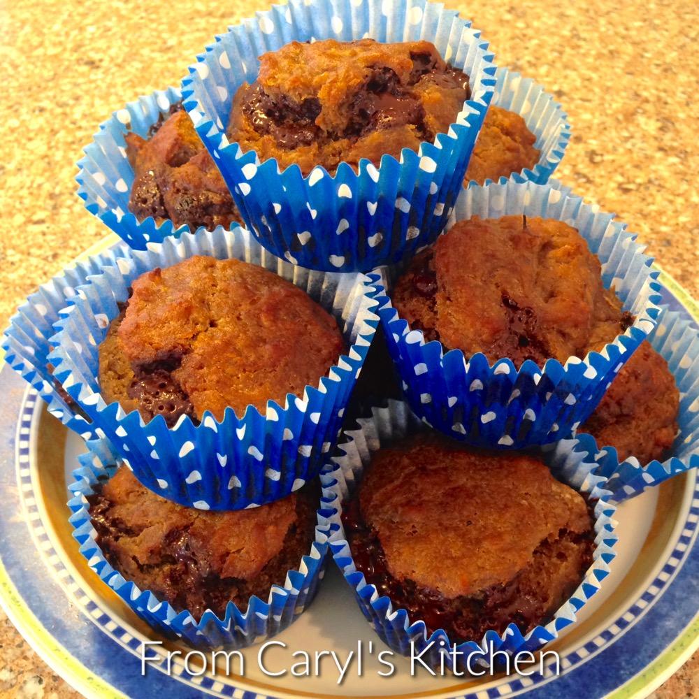 Vegan Aquafaba Banana Chocolate Chip Muffins