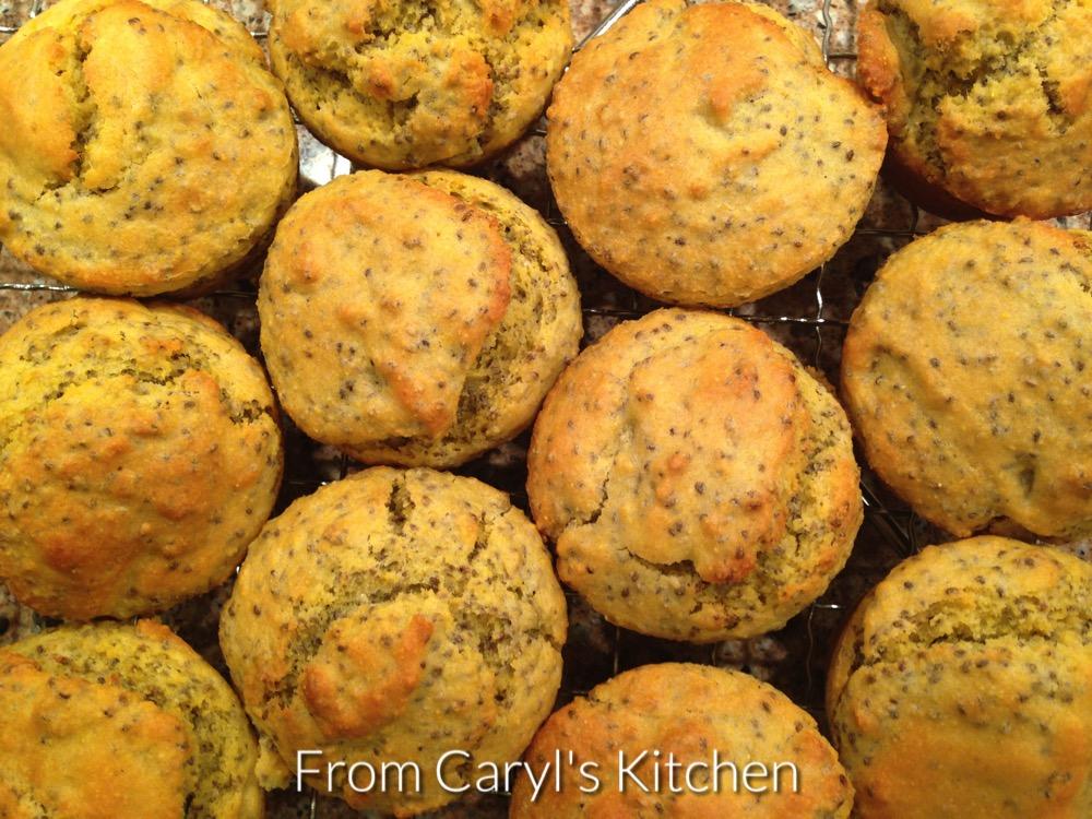 Chia Cornbread Muffins