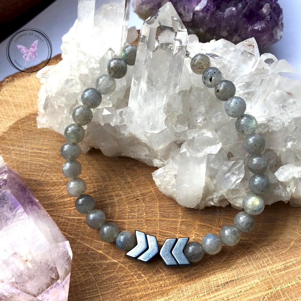 Labradorite & Hematite Arrow Bracelet