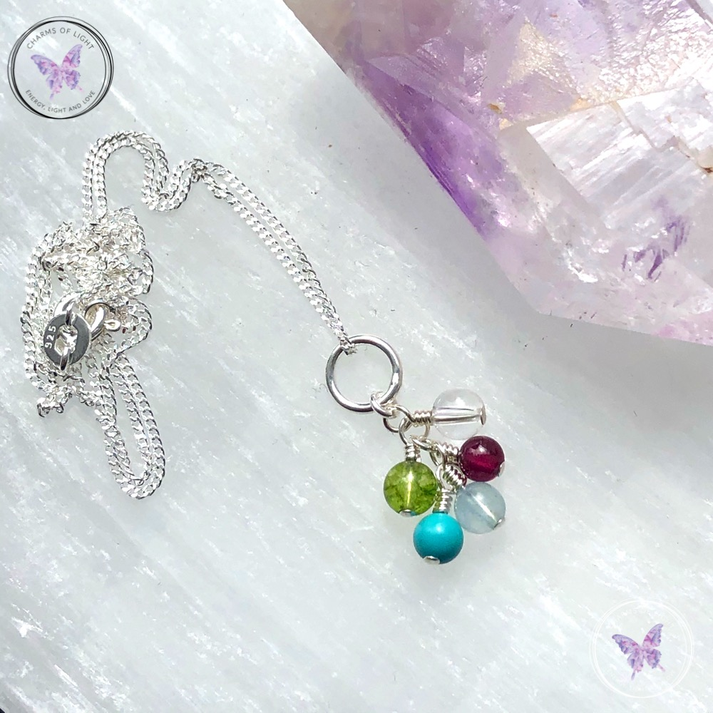 Family Birthstone Cluster Necklace