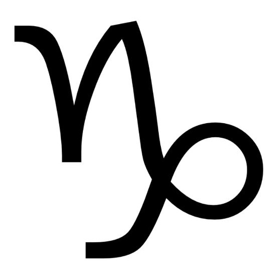Zodiac symbol for Capricorn