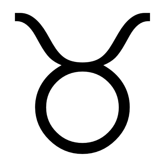 Zodiac symbol for Taurus