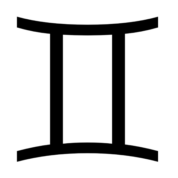 Zodiac symbol for Gemini