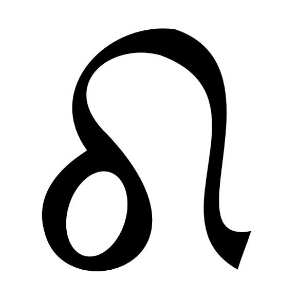 Zodiac symbol for Leo