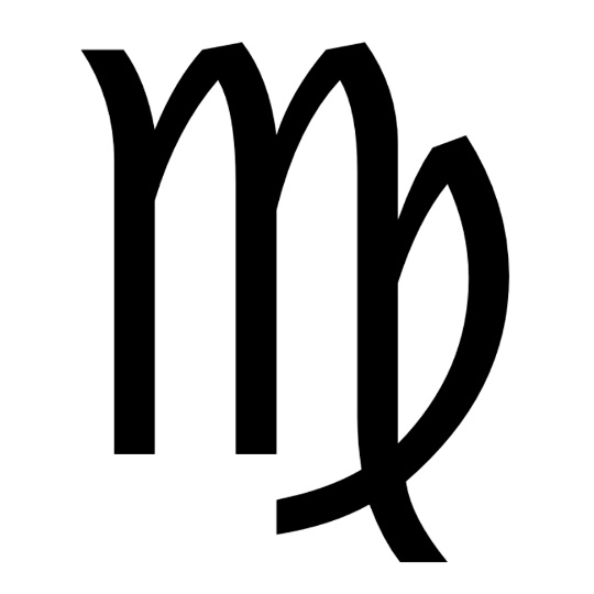 Zodiac symbol for Virgo