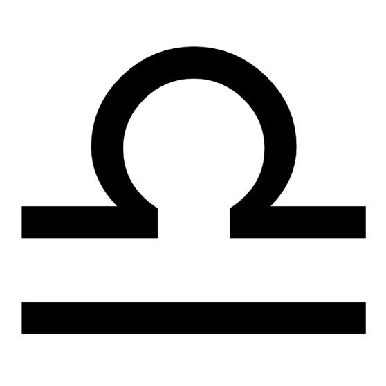 Zodiac symbol for Libra