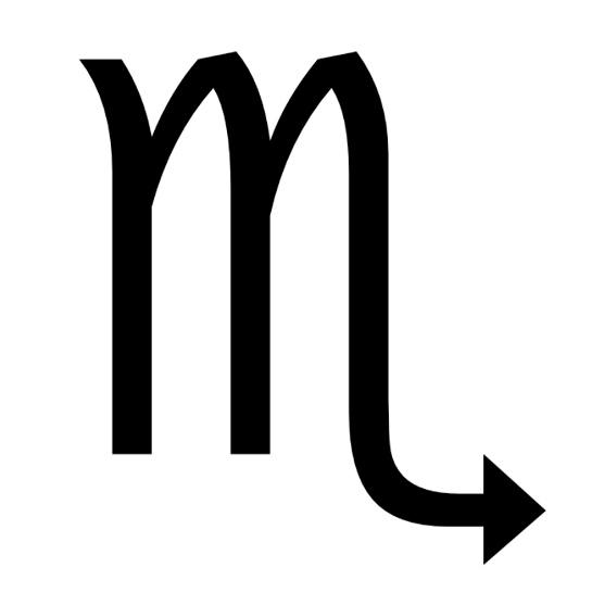 Zodiac symbol for Scorpio