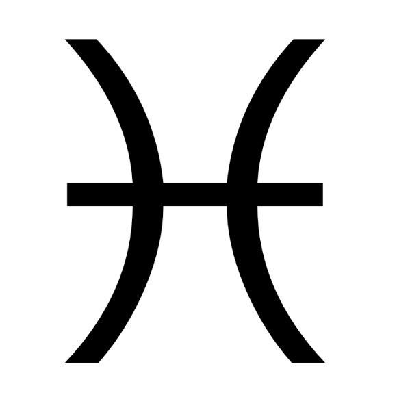 Zodiac symbol for Pisces