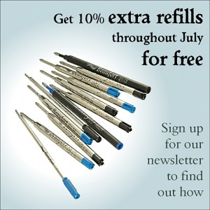 Get 10% extra refills throught July. Sign up to our newsletter to find out how