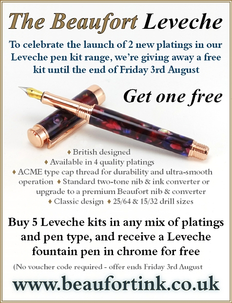 Buy any 5 Leveche pen kits and get a 6th one free